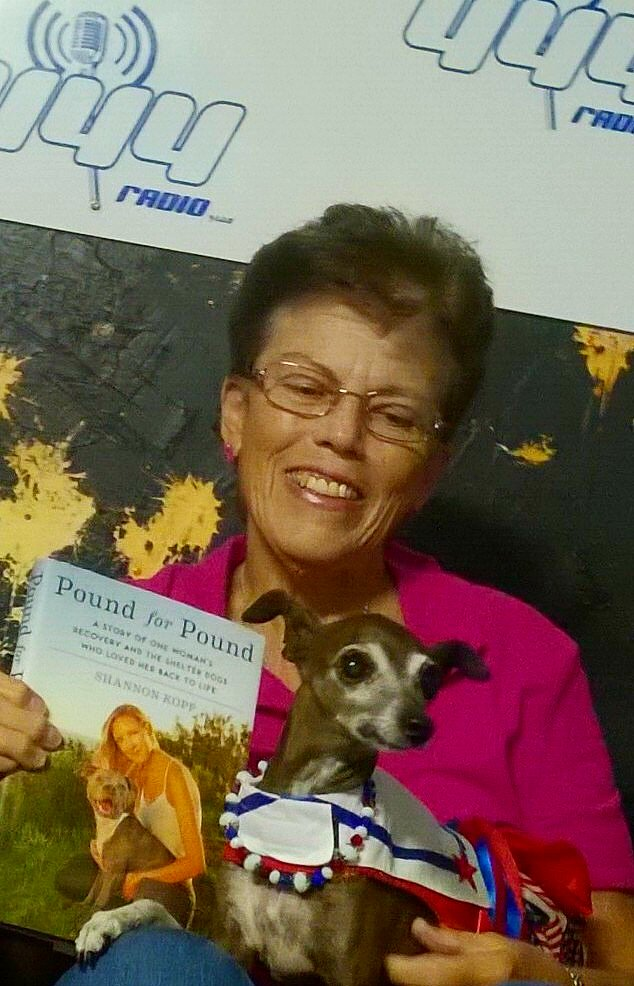 Miss Olive with President of Safe Haven Animal Rescue Mary Lupi. ‪#‎DivaSelfie‬